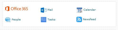 Access email via the Office 365 widget on the homepage