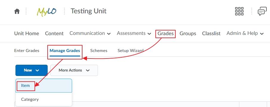 UTAS Letter Grades for Assessment 1