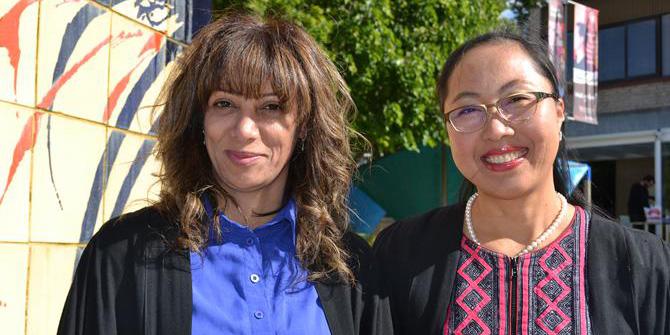 Clemente students Maria Janabi and Ratachanee Chainuwong