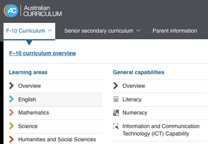 F-10 Curriculum choices