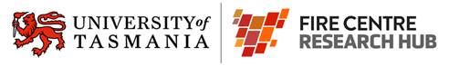 Fire Centre Research hub, University of Tasmania logo