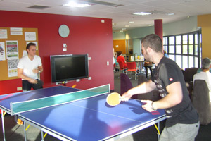 Students enjoying the Staff Facilities