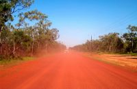 Dusty road, Western Australia
