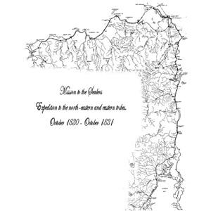 The Journeys of GA Robinson - Map of Tasmania