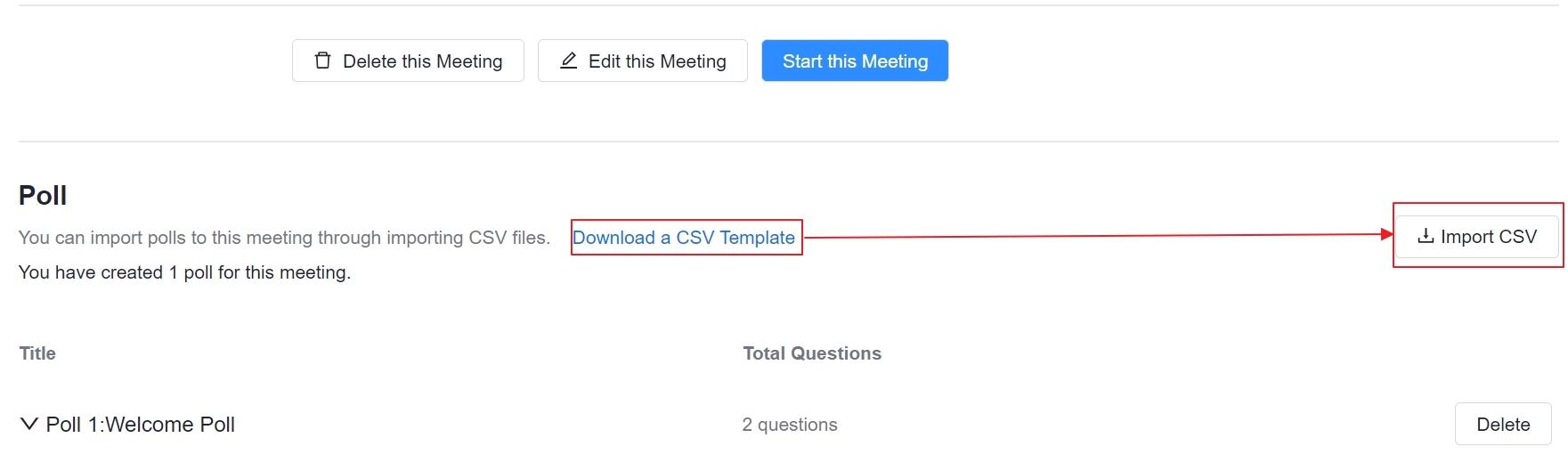 Upload a csv file