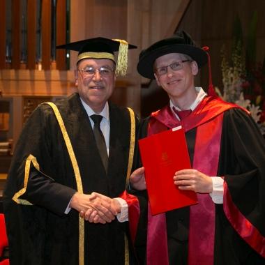Dr Sandrin Feig receives Vice-Chancellor award