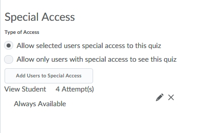 User with special access appear