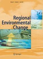 Regional Environmental Change journal cover