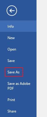 Choose Save As