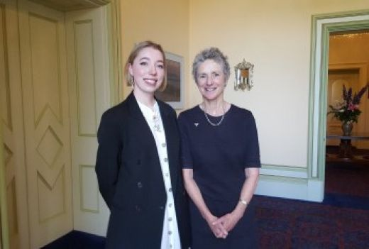 Bella Dower with Her Excellency at Government House