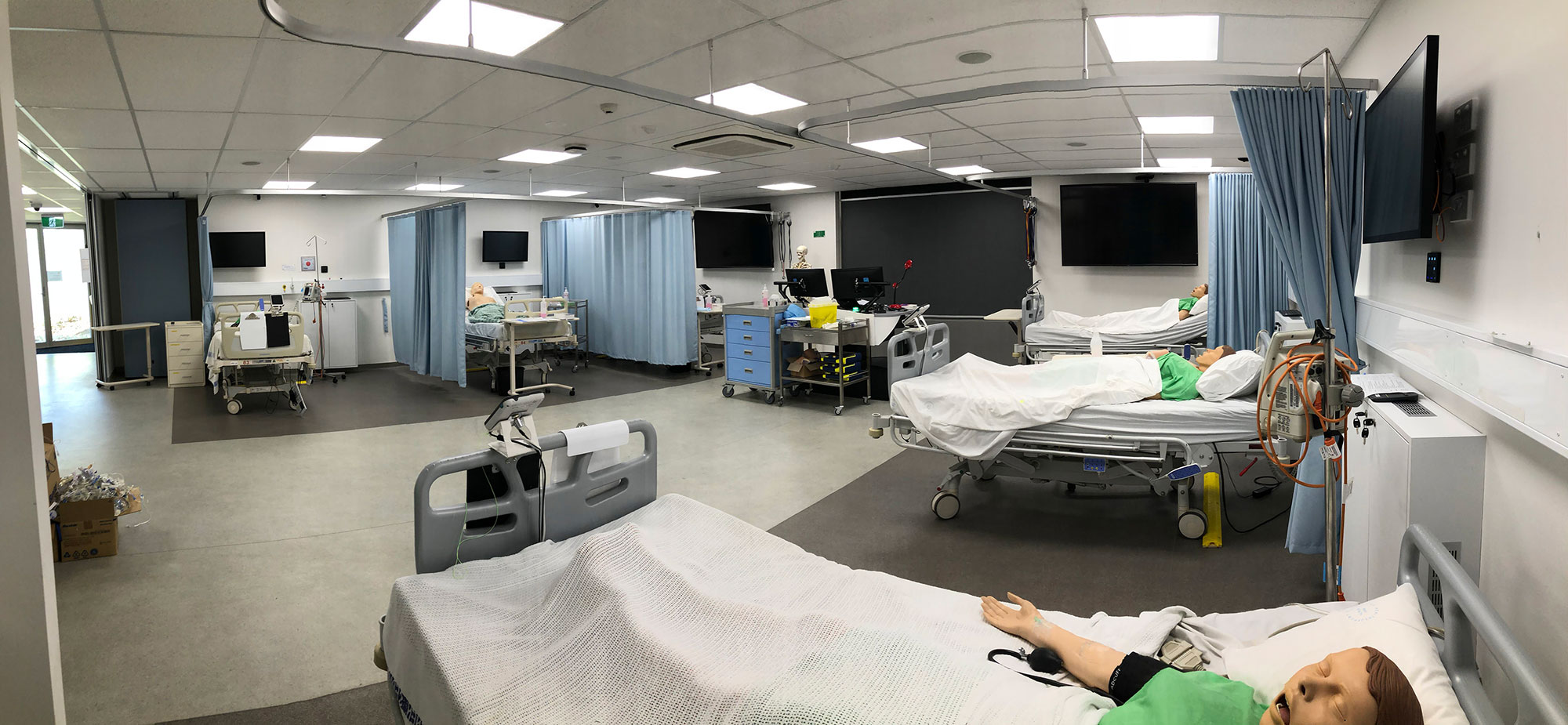 Inside Rozelle's nursing laboratory.