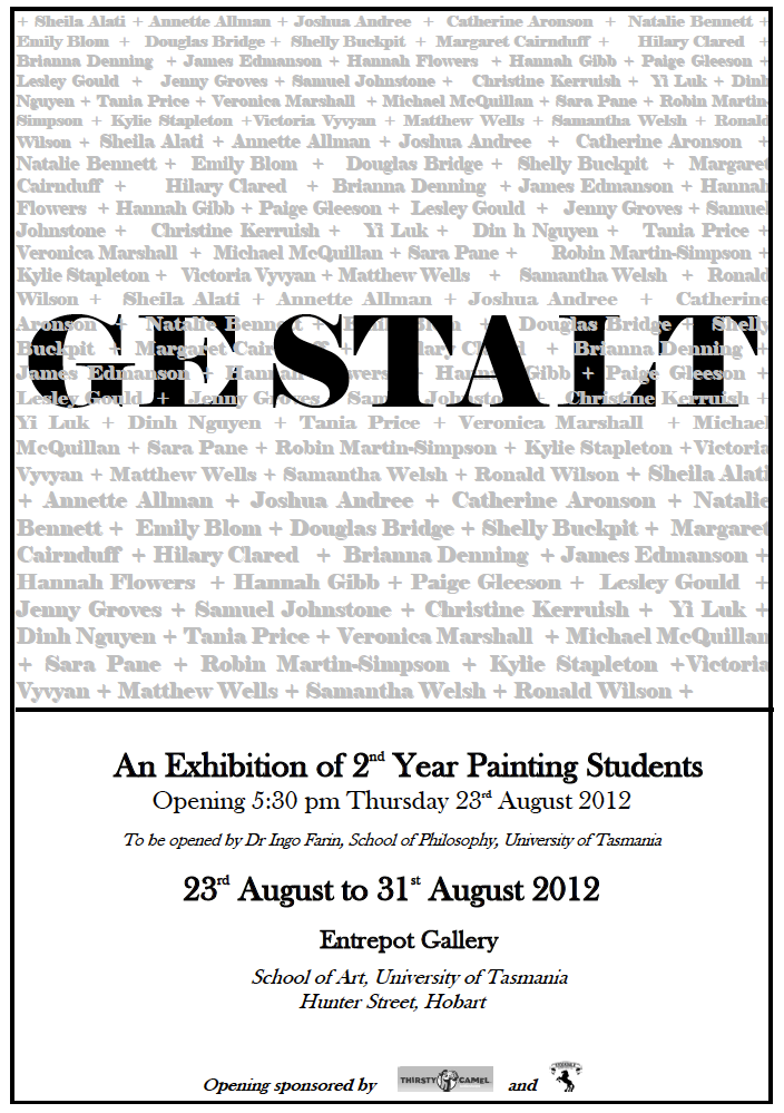 Gestalt - 2nd Year Painting Exhibition