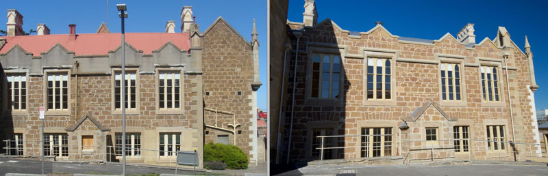Domain House before and after restoration work