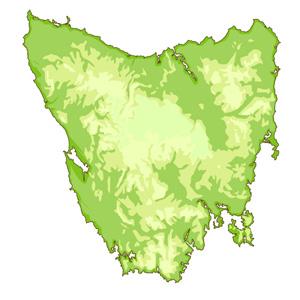 Map of Tasmmania - 2007