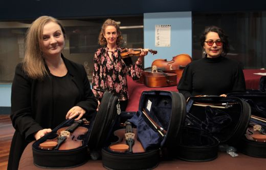 Instruments bring music to the ears of students at home