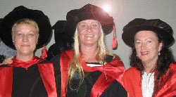 Dr Nicole Asquith, Dr Danielle Campbell and Assoc Professor Roberta Julian