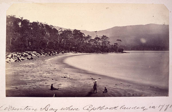 Samuel Clifford, 'Adventure Bay where Captain Cook landed in 1771', c 1873 (W.L. Crowther Library, SLT)