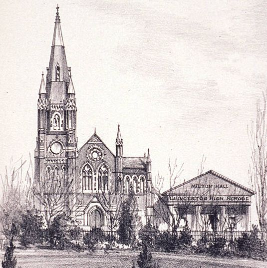 Thad Leavitt, 'Congregational Church, Princes Square', 1887 (Tasmaniana Library, SLT)